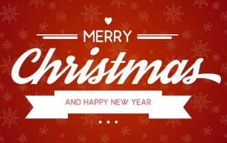 Christmas & New Year Greeting Card PSD Template