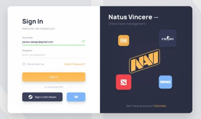 Elegant Sign in Sign up Template Figma