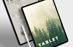 High Resolution iPad Pro PSD Mockup