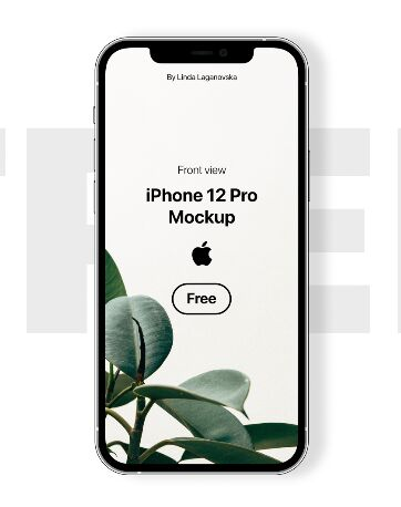 iPhone 12 Pro Mockup (Front View) PSD