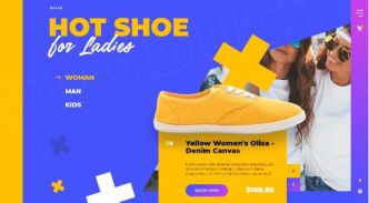 Footware Online Shop Web Template For Adobe XD