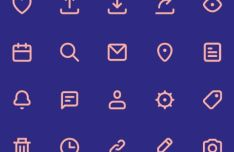 20 SVG Web Icons (Line Style)