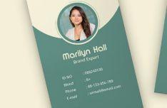 Trendy ID Card Vector Mockup