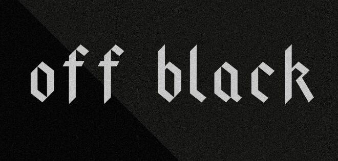 Off Black Display Font