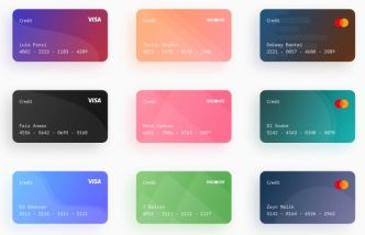 9 Credit Cards For Figma