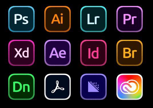 21 Adobe Creative Cloud Icons For Big Sur