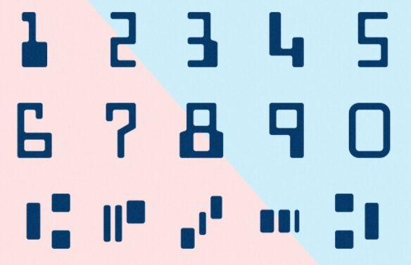 E13B Font Letterforms