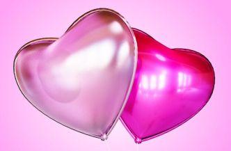 Realistic Valentine's Heart Balloon PSD Mockup