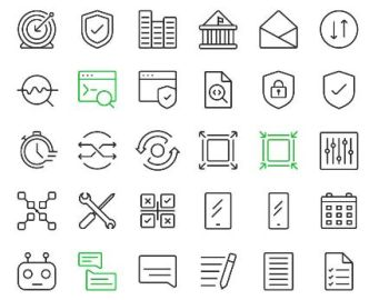 110 Modern Essential Icons