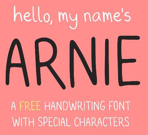 ARNIE Typeface