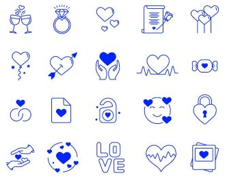 20 Love Vector Icons
