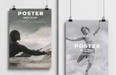 Handing A4 Poster Hanging Mockup PSD