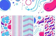 5 Seamless Abstract Patterns Vector