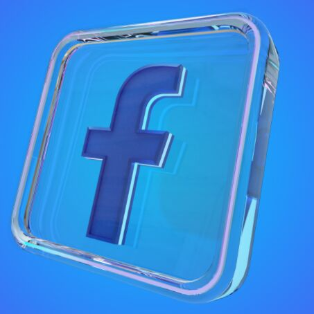 3D Glass Facebook Icon PSD