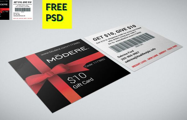 Square Coupon Card Template PSD