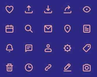 20 Minimal UI SVG Icons
