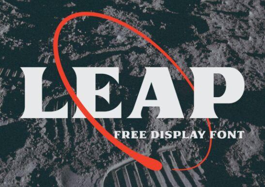 Leap Display Font