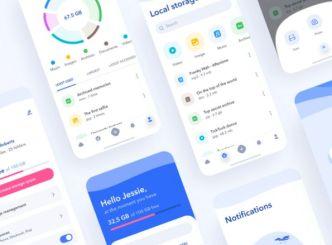 Cloud Storage Mobile App UI (Figma & Sketch)