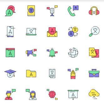 25 Translator Icons Vector