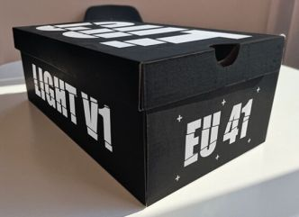 Realistic Shoe Box PSD Mockup