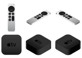 Apple TV 4K 2021 Mockup & Icons Vector