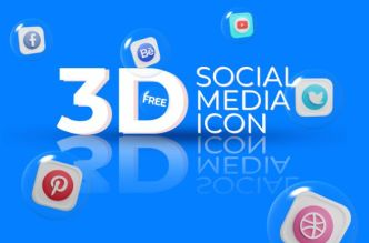 3D Social Icons Pack