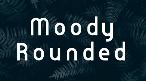 Moody Rounded Typeface