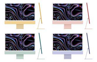 Realistic Apple iMac 24 Figma Mockup