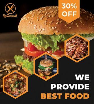 Modern Restaurant Flyer PSD Mockup