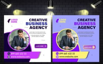 Business Agency Social Media Post Template Vector