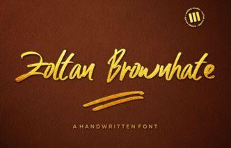 Zoltan Brownhate Font