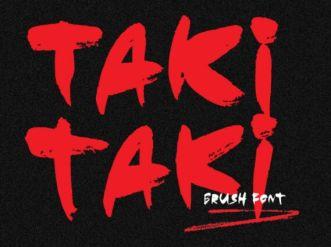 Taki Taki Brush Typeface