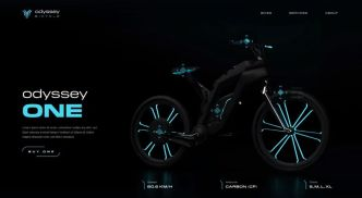 Odyssey Bicycle Landing Page Template