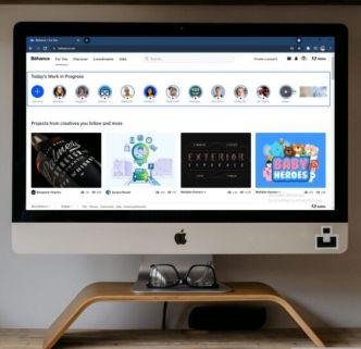 Photo Realistic iMac On Desk PSD Mockup