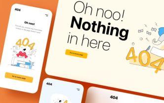 404 Not Found Illustrations Vector
