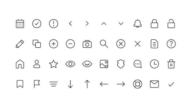 40 Thin Line Icons Figma