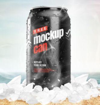 Ice Can PSD Mockup