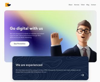 Elegant Agency Landing Page Figma