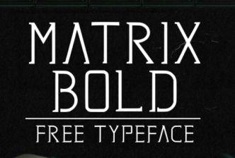 Matrix Futuristic Serif Font