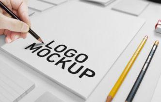 Simple Logo Mockup PSD