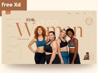 Fashion Web Template Adobe XD