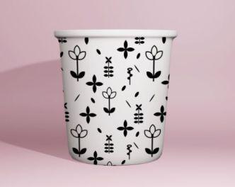 Editable Paper Cup Mockup PSD