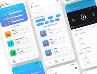 Online Course Mobile App UI Design Figma