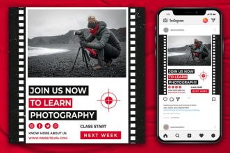 Instagram Banner Template For Photography