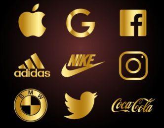 Golden Brand Logos Vector