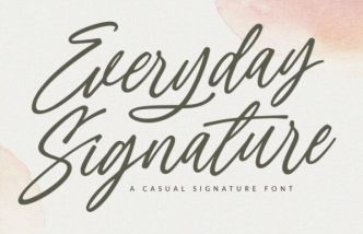 Everyday Signature Font