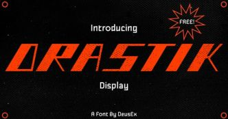 Drastik Display Font