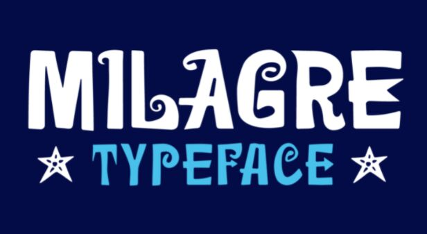 Milagre Display Typeface