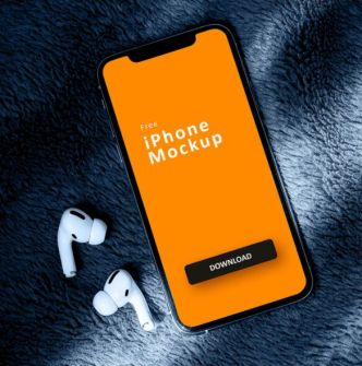 Simple & Easy To Edit iPhone 12 PSD Mockup