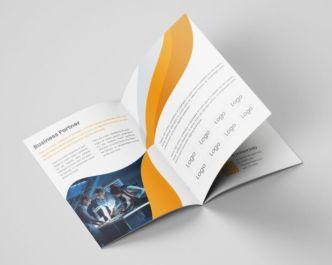 Realistic Company Profile Vector Template